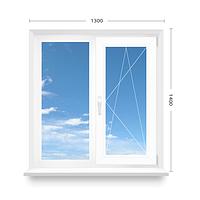 Окно ПВХ OPENTEСK 1400*1300 однокамерный стеклопакет