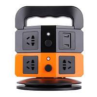 USB удлинитель 5 розеток и 2 USB charging vertical socket 1.8 м