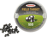"""Люман """"Field Target"""" 0.55 гр, 500 шт. пули для пневматики 4.5 мм"""