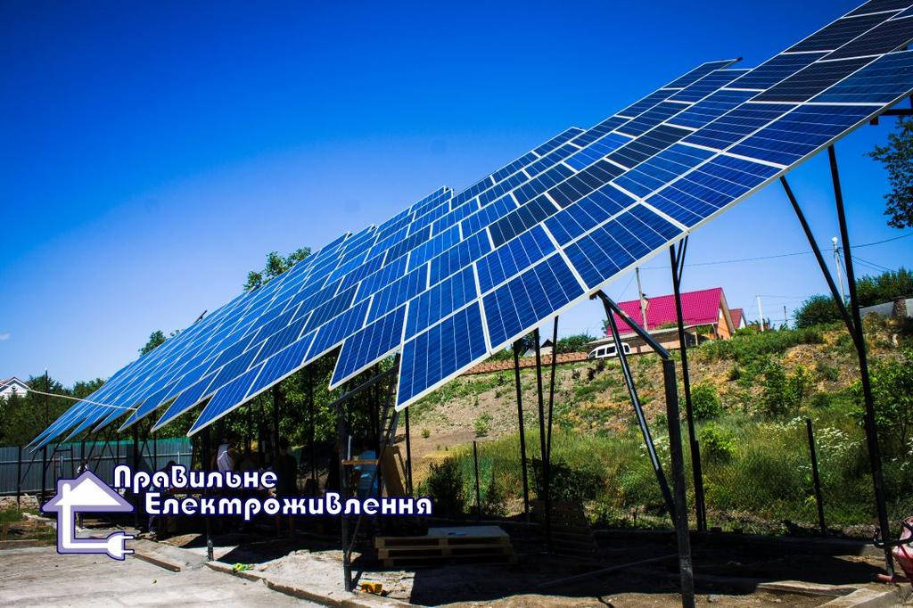 Мережева сонячна електростанція 30 кВт м. Кропивницький