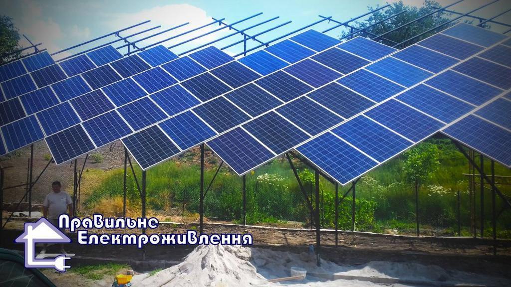 Мережева сонячна електростанція 30 кВт м. Кропивницький  1