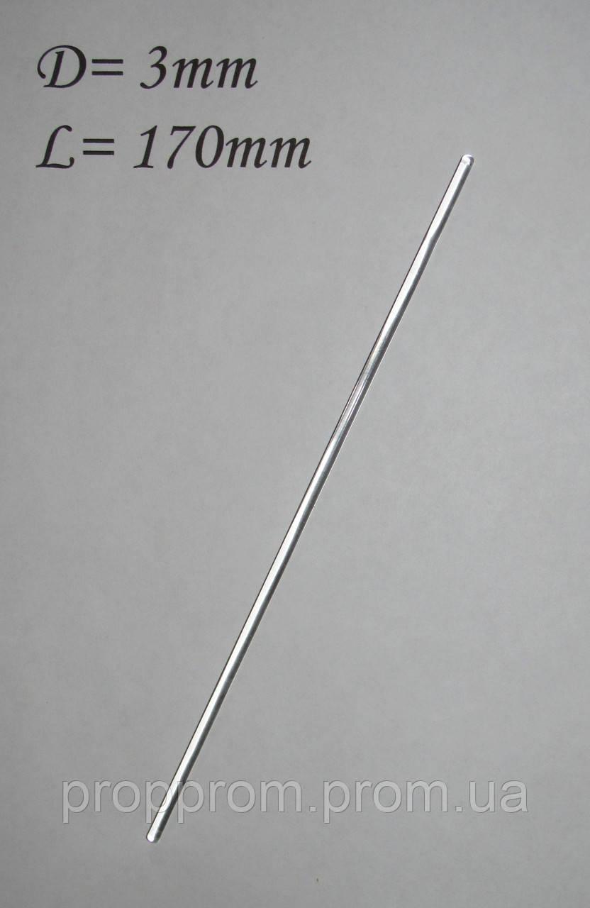 Стеклянная палочка 170*3мм