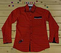Стильная рубашка  для мальчика на рост 128-164см