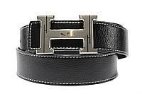 Брендовый ремень 'Hermes' черный