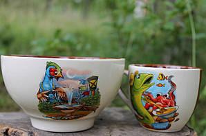 Набор детской посуды керамический