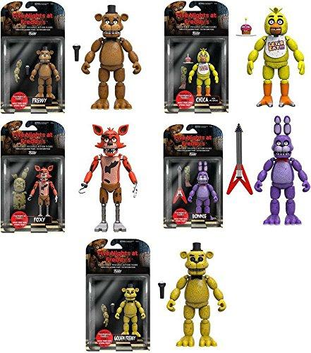 "Набір фігурок 5 ночей з Фредді / Five Nights at freddy's 5"" Freddy, Chica, Foxy, Bonnie, Gold Freddy"