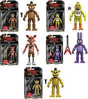 "Набор фигурок 5 ночей с Фредди / Five Nights at Freddy's 5"" Freddy, Chica, Foxy, Bonnie, Gold Freddy"