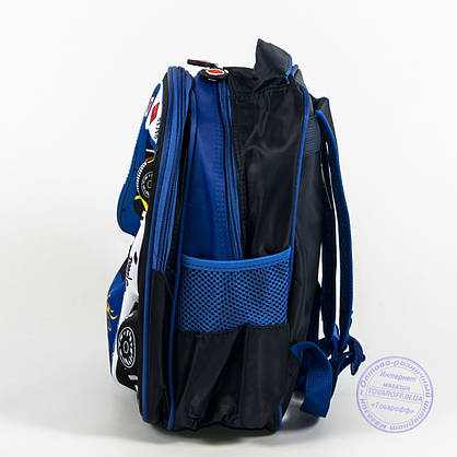 Детский рюкзак для мальчика 3Д машинка - синий - 128, фото 3