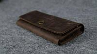 Кожаный винтажный кошелек BR-12K-1875 на 12 карточек , фото 1