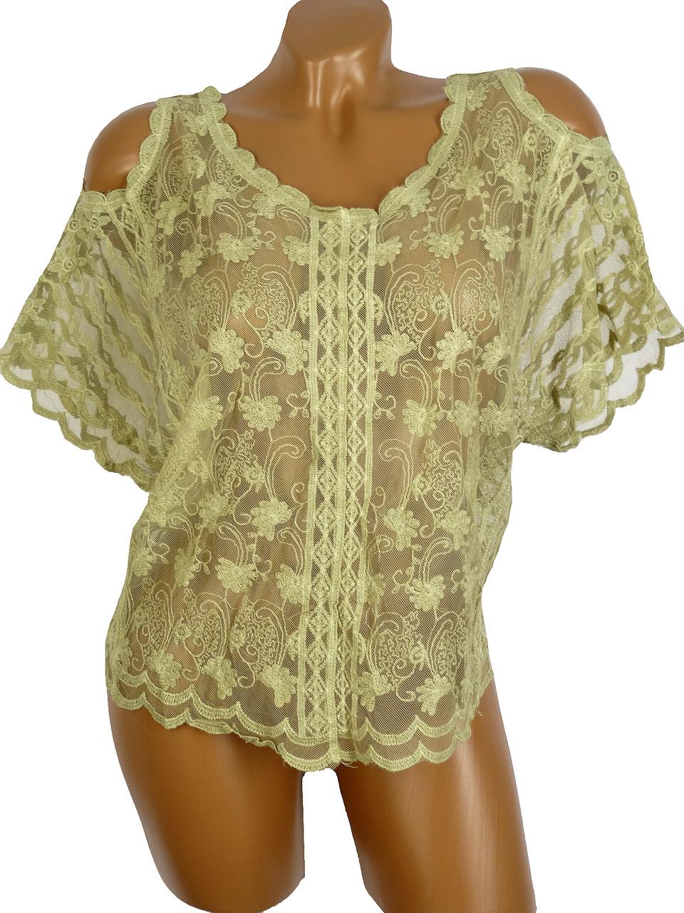 d11c48f383a Оригинальная блузка из гипюра(42-48) - Женская одежда оптом