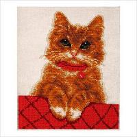 """Набор для вышивки бисером """"Котик Персик"""""""