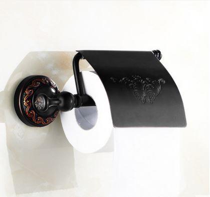 Настенный (подвесной) черный держатель бумаги 0406