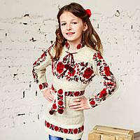 Вязане плаття для дівчинки, 100% льон