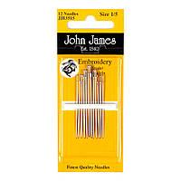 Embroidery №5/10 (16шт) Набор игл для вышивки гладью John James (Англия) JJ13550