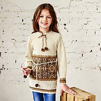 Красивая туника для девочек, 100% лен, фото 1