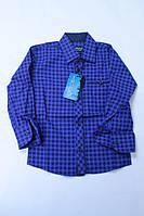 Рубашка електрик клетка на кнопке 2-7 лет