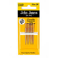 Chenille №18/22 (6шт) Набор игл для вышивки лентами John James (Англия) JJ18882