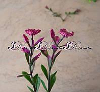Добавка ресничка двойная с бордовым цветком