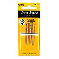 Chenille №20 (6шт) Набор игл для вышивки лентами John James (Англия) JJ18820