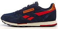 Мужские кроссовки Reebok Classic Suede (Рибок) синие
