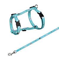 Поводок+шлея Trixie Mimi Cat Harness для кошек нейлоновая, 27-45 см, 1.2 м, фото 1
