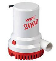Помпа трюмная электрическая 2000 gph для выкачки воды из лодки