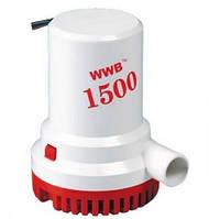 Помпа трюмная электрическая 1500 gph для выкачки воды из лодки