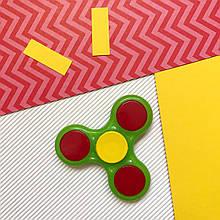 Пластиковый классический цветок, тёмно-зелено-красный, «Spinner» (01-01)