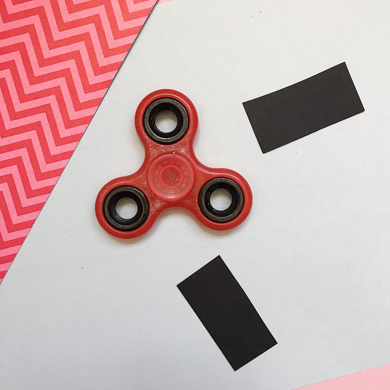 Классический с глиттером, красный, «Spinner» (D-2)