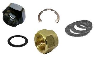 Накидные гайки и комплектующие под вальцовку