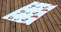 Полотенце Lotus пляжное - Crabs 75*150 велюр