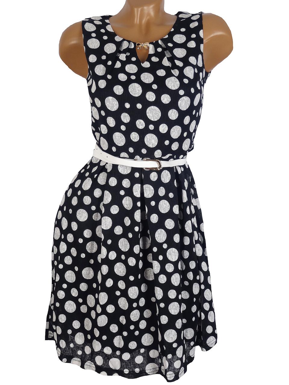 Женское платье-горох 42-44
