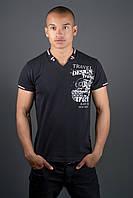 Мужская футболка Грэт р. 44-58 черный
