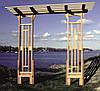 Арка Портал-2 садовая для вьющих растений деревянная
