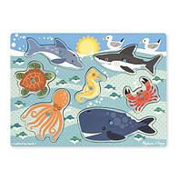 """Рамка-вкладыш """"Морские обитатели"""", 6 эл. MD9055, Melissa&Doug, фото 1"""