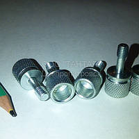 Винт невыпадающий с накатанной головкой специальный М6х17 оцинкованный прочность 10.9 производство ТАНТАЛ сталь 45