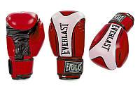 Перчатки боксерские FLEX на липучке Everlast  FIGHT-STAR (р-р 10-12oz, красный), фото 1
