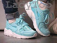 Женские Голубые КРОССОВКИ реплика Nike Huarache р.37,38,39