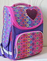 Школьный ранец 1 Вересня  Сердца  Новая коллекция