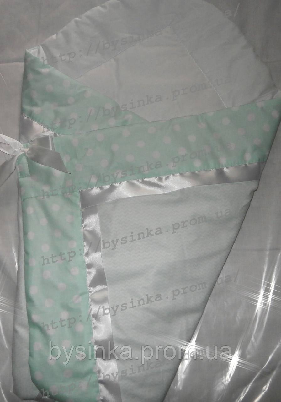 """Конверт-одеяло на выписку новорожденного, трансформер- """"Горох"""""""