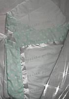 """Конверт-одеяло на выписку новорожденного, трансформер- """"Горох"""", фото 1"""