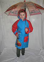 Дождевик Тачки красно-синий