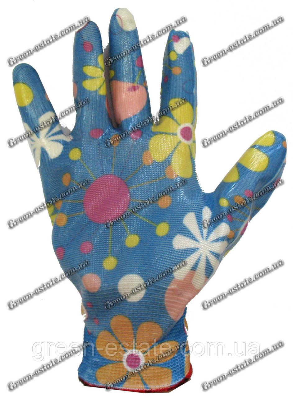 Женские перчатки стрейчевые покрытые гладким латексом Rgarden