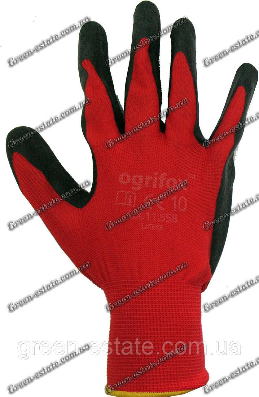 """Перчатки стрейчевые покрытые вспененным нитрилом """"Ogrifox"""""""