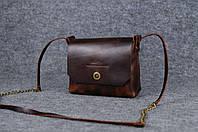 Женская кожаная сумка Итальянка через плечо | Италия Вишня, фото 1