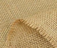 Отрез мешковина-ткань джут_беж 50х50 см