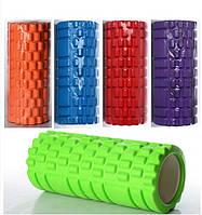 Роллер массажный для йоги 0857: 5 цветов, размер 33х14см