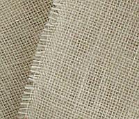 Отрез мешковина-ткань джут_белый (молочный) 50х50 см