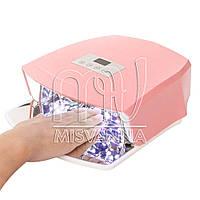 Профессиональная лампа Nail Salon LED+UV Lamp JSDA-L4824S (pink)