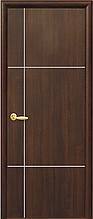 Ника silver - Каштан (60, 70, 80, 90см). Коллекция PLUS. Межкомнатные двери Новый Стиль